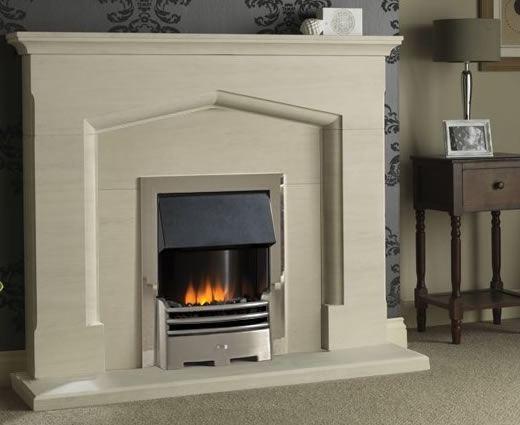 Limestone Fireplace Packages With Electric Fires