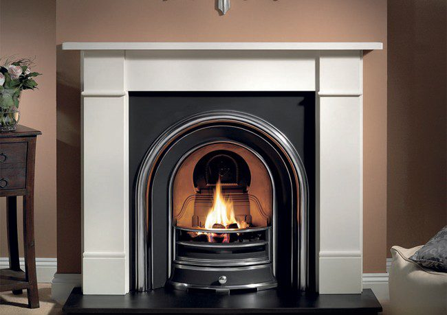 gas fire mantle