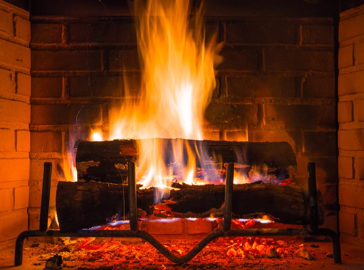 log fire effect