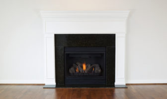 Plain room with gas fire