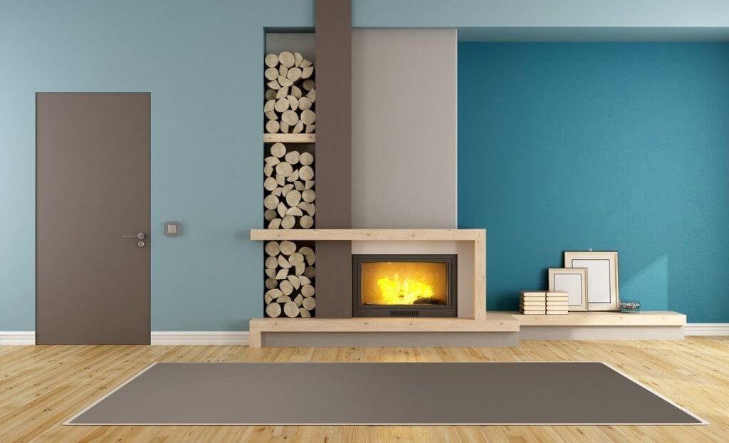 fireplace design denim drift