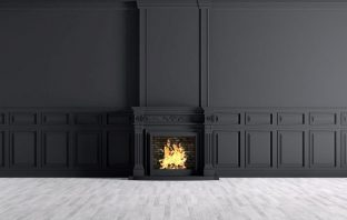 fireplace design trends and colours