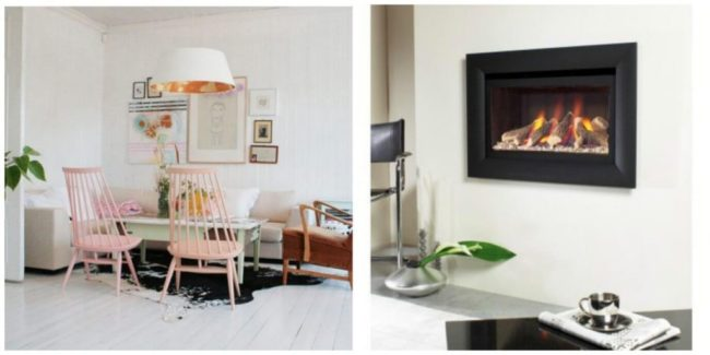Scandinavian style fireplaces
