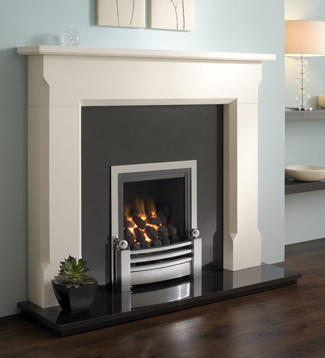 Aegean limestone fire surround