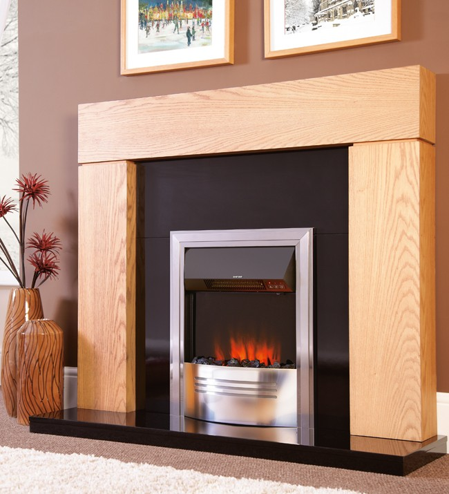 Inset electric fire