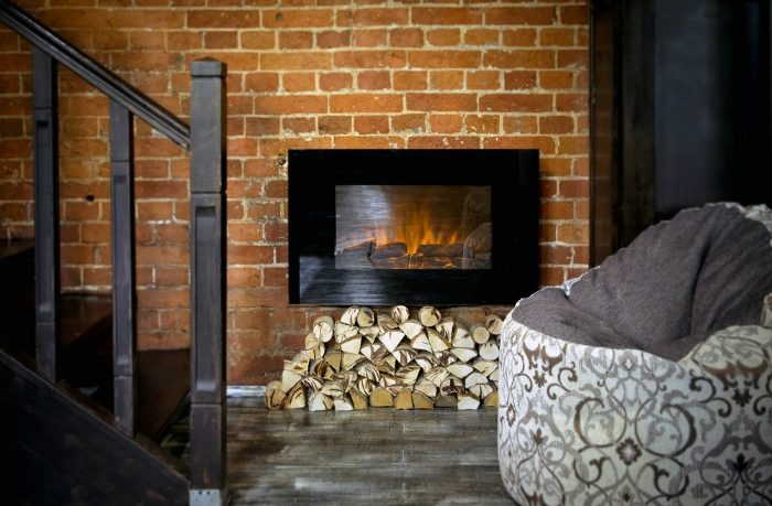 Installing a wall mounted electric fireplace