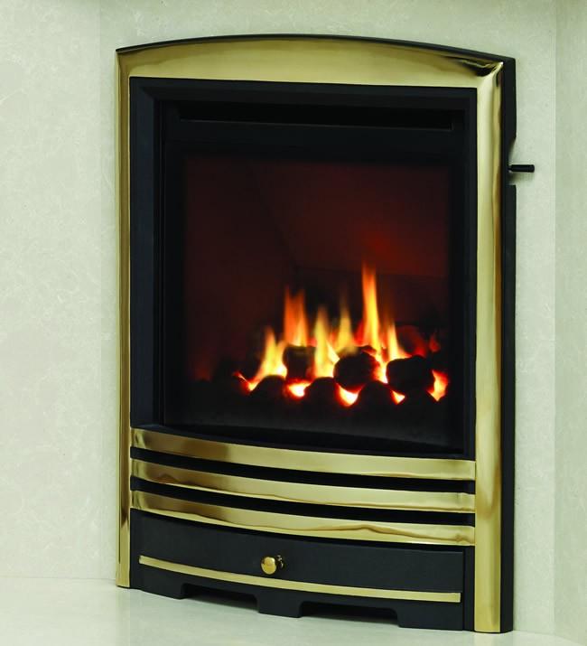 Be Modern Titanium Cast Brass Fire