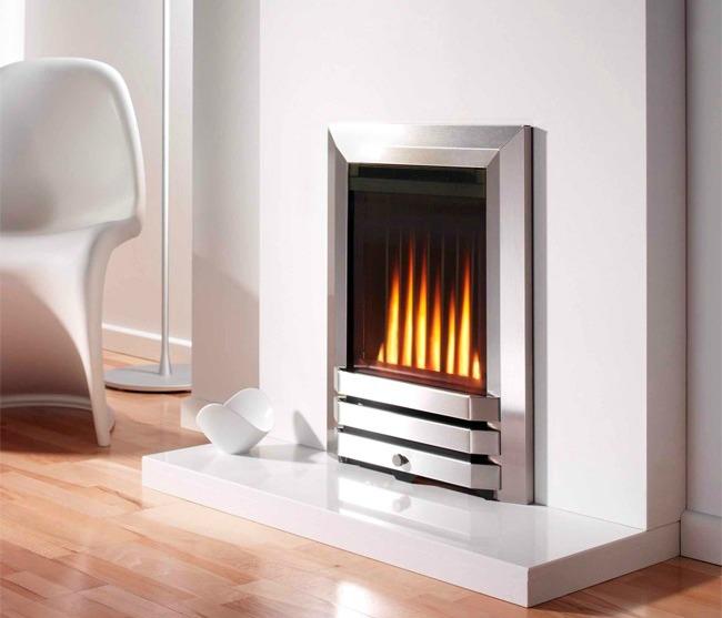 Balanced flue fireplace