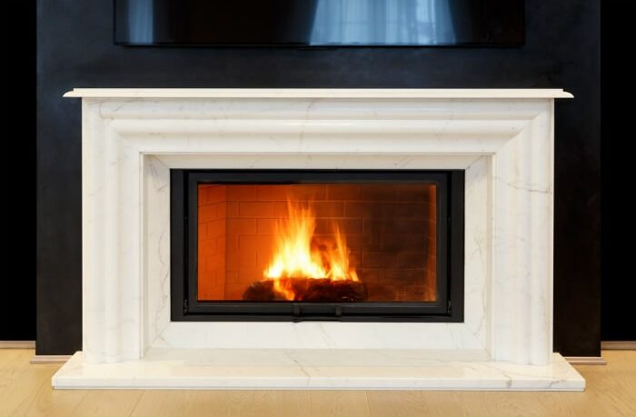 Marble fireplace cleaning