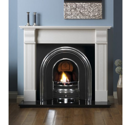 PUREGLOW KNIGHTON PERLA MICRO MARBLE FIRE SURROUND