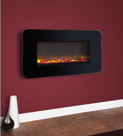 CELSI TOUCHFLAME BLACK WALL MOUNTED ELECTRIC FIRE