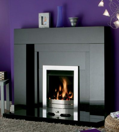 FIRESIDE STONEHENGE BLACK GRANITE FIREPLACE