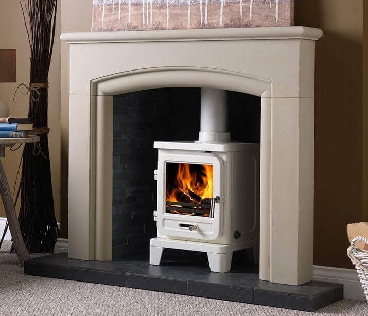 """PENMAN COLLECTION 48"""" NEW HAVEN MORAY STONE FIREPLACE"""