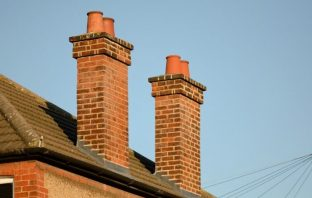 Traditional brick chimney