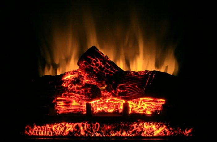 Realistic flame effect electric fire