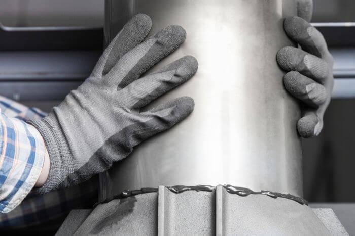 installing a modern fireplace chimney