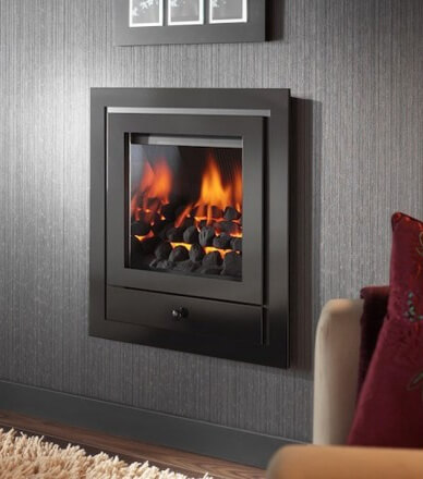 Crystal Fires Royale 4 Sided Hole In the Wall with Gem Gas Fire with coal effect