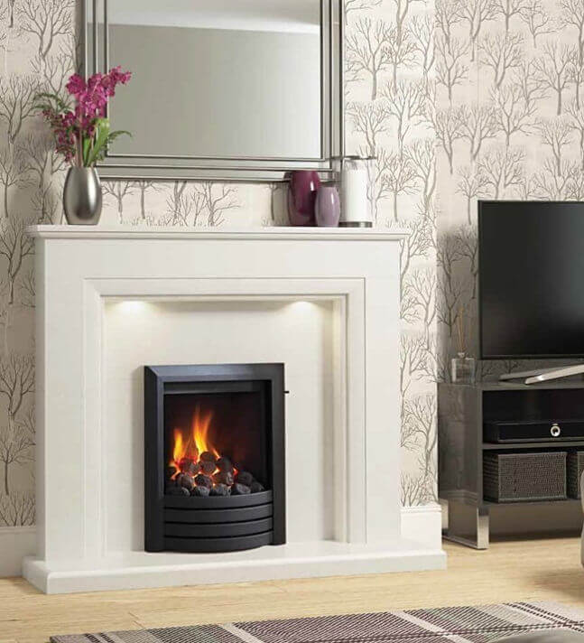 Elgin & Hall Amorina Micro Marble Fireplace