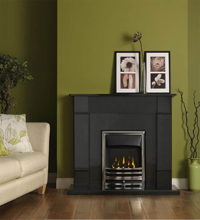 Gallery Rydal Black Granite Fireplace