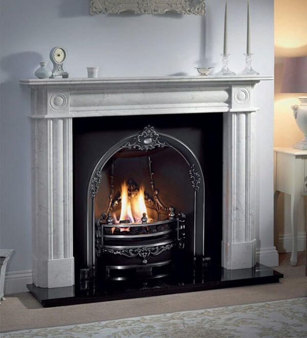 Gallery Collection Gloucester Cast Iron Fire Inset Period Fireplace