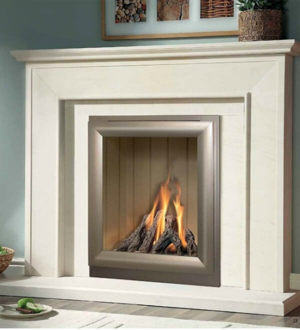 Axon Fireplaces Aurora Limestone Fireplace