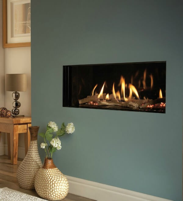 Verine Eden HE Gas Fire trimless option