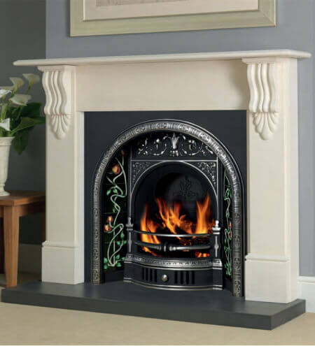 Cast Tec Victorian Corbel Turkish Limestone Fire Surround
