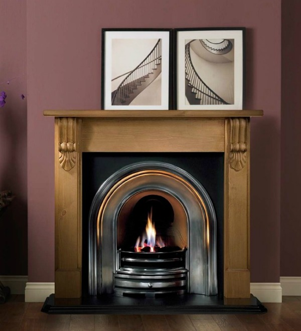 Gallery Collection Grand Corbel Wooden Fire Surround