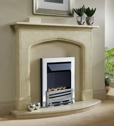 Special Offer - EkoFires 5510 Flueless Gas Fire (Chrome Trim and Chrome Mono Fret)