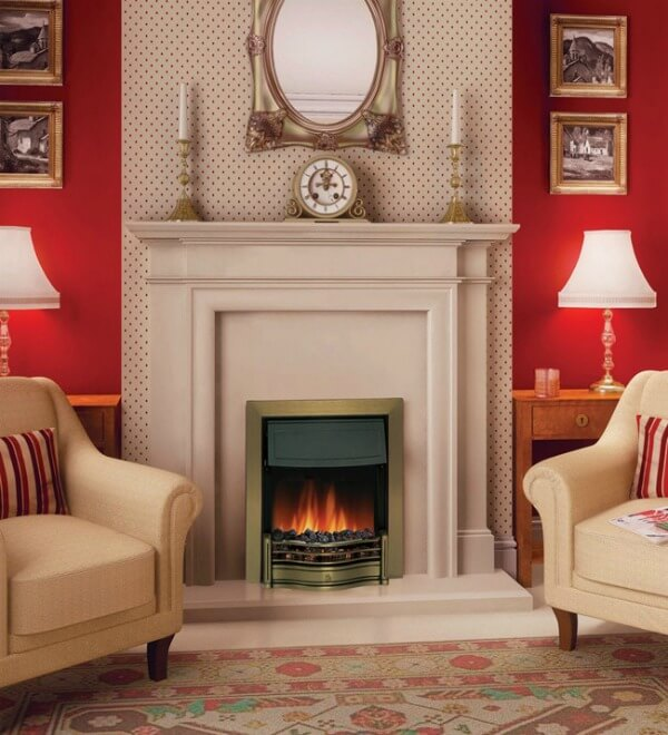 Dimplex Danesbury Antique Brass Electric Fire