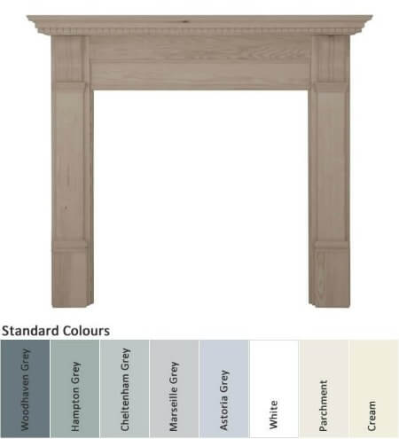 Carron Corbel Painted Wooden Fire Surround