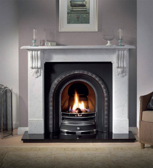 Gallery Collection Kingston Cararra Marble Fire Surround