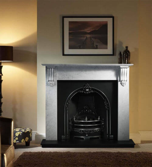 Gallery Collection Richmond Carrara Marble Fire Surround