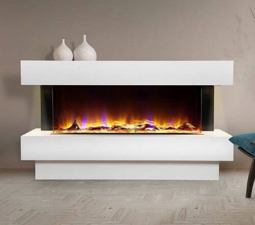 Celsi Electriflame VR Carino 1100 Electric Fireplace Suite
