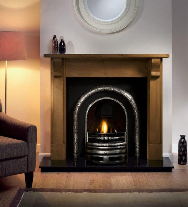 Bedford Wooden Fireplace Package With Lytton Cast Iron Fire Insert
