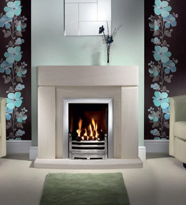 Fireside Clifton Limestone Fireplace
