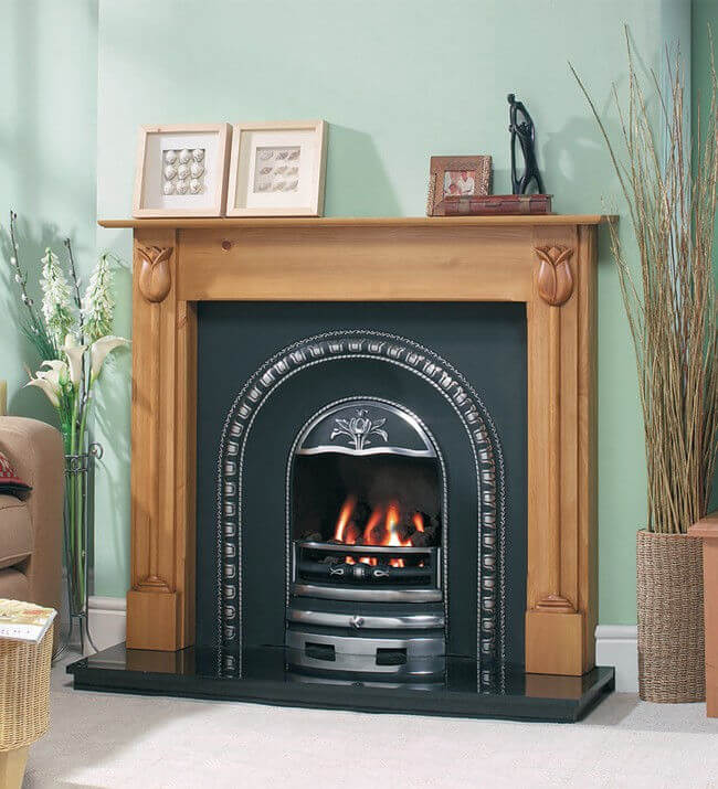 Cast Tec Tulip Wooden Fire Surround