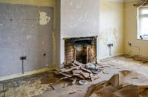 Chimney breast being removed from living room