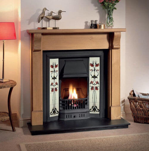 Gallery Collection Prince Tiled Cast Iron Fire Insert