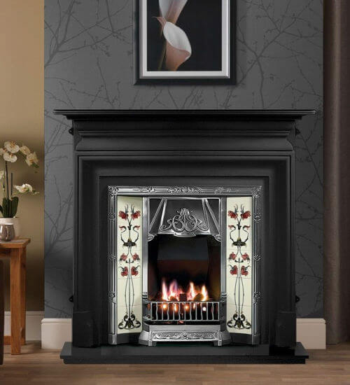How To Re A Cast Iron Fireplace, Black Paint For Metal Fireplace Surround