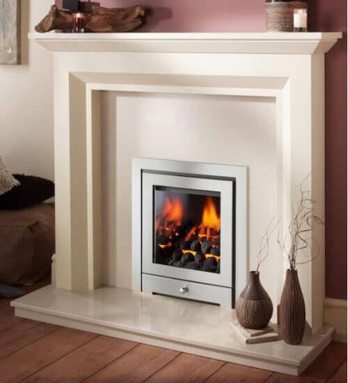 Crystal Fires Royale 3 Sided Inset with Montana Gas Fire