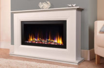 Celsi Ultiflame VR Vega White Electric Fire Suite