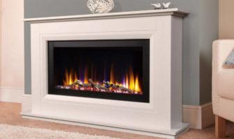 Celsi Ultiflame VR Vega White Electric Fire Suite