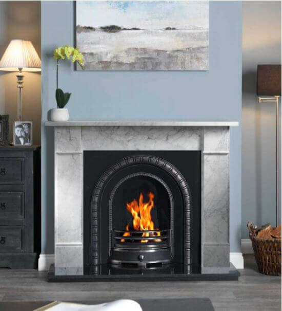 Brompton Cararra Marble Fire Surround