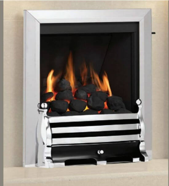 Elgin & Hall Classic Slimline Radiant Inset Gas Fire With Exclusive Trim