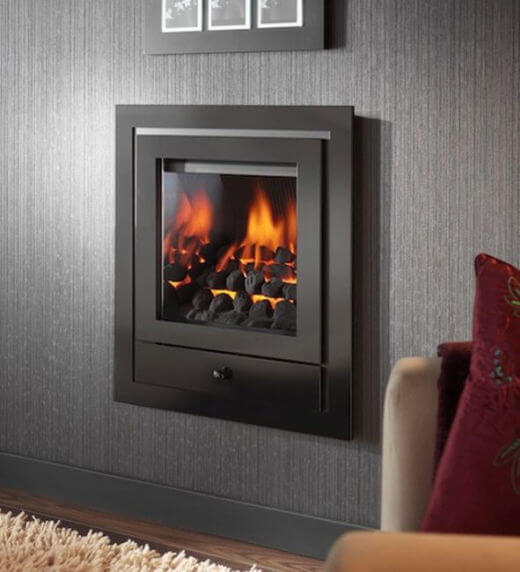 Crystal Fires Royale 4 Sided Hole In the Wall with Montana Gas Fire