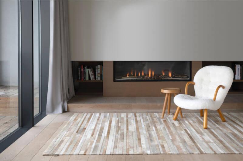 Scandinavian fireplace design idea