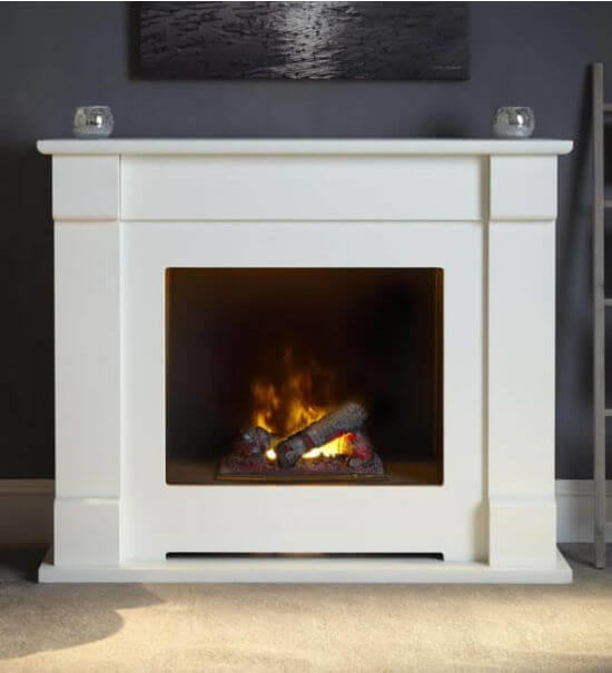 Suncrest Lucera 47-inch OptiMyst Electric Fireplace Suite