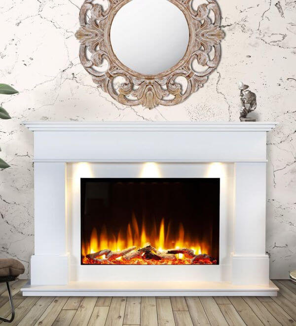 Celsi Ultiflame VR Adour Aleesia Illumia Electric Fireplace Suite