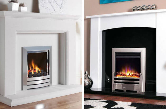 gas fire vs electric fire